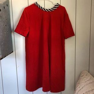 Orange Zara Dress with rope tie neck